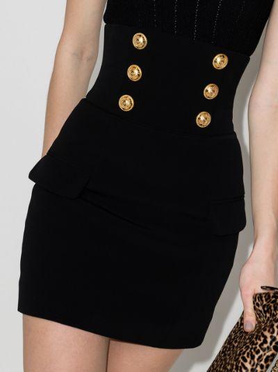 Button Detail Mini Skirt