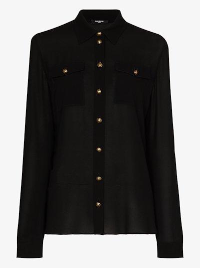 button-down silk shirt