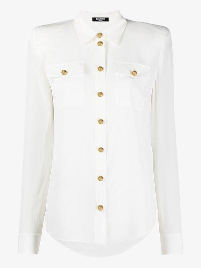 buttoned silk shirt