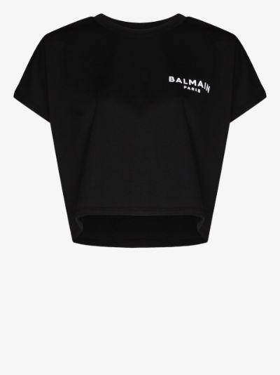 cropped logo T-shirt