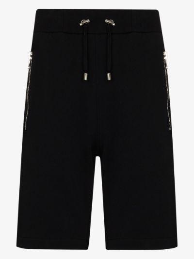 embossed logo Bermuda shorts
