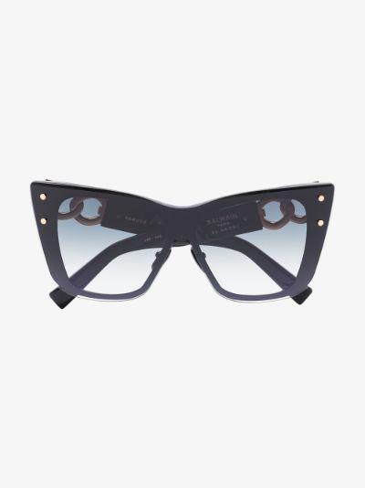 black Armour cat eye sunglasses