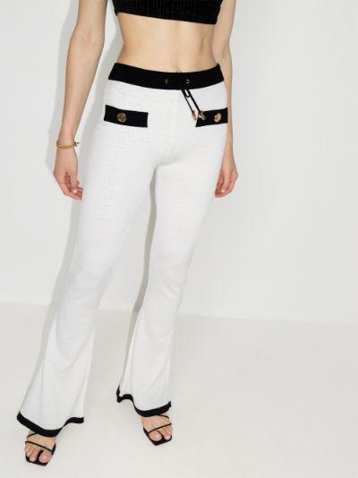 flared monogram track pants