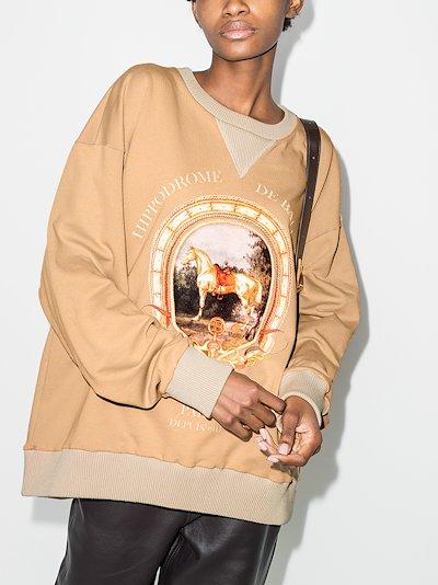 heritage print oversized sweatshirt
