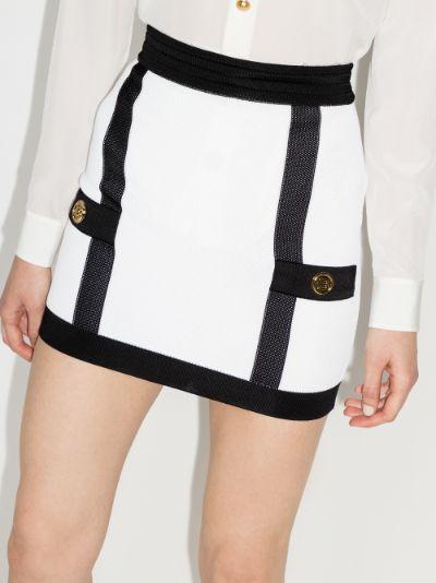 knitted mini skirt