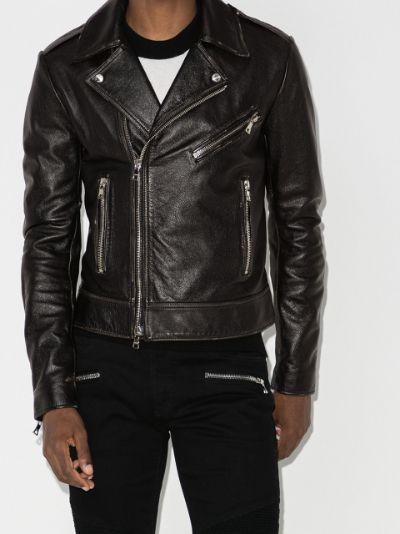 logo biker jacket