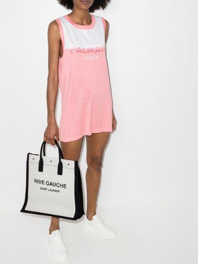 logo cotton mini dress