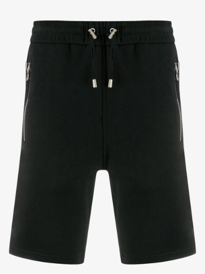 logo cotton track shorts