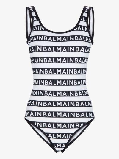 logo pattern swimsuit