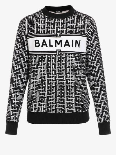 monogram logo sweater