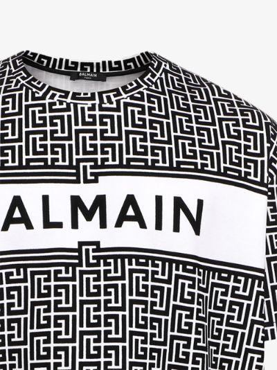 monogram print oversized T-shirt
