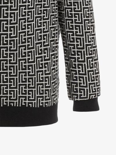 monogram print sweatshirt