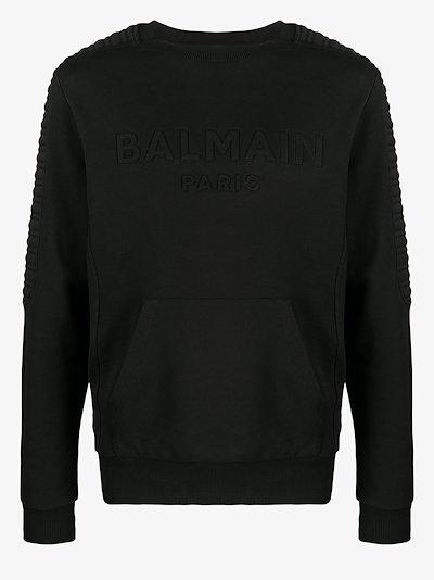 raised logo cotton sweatshirt