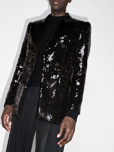 sequin embellished blazer
