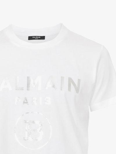 silver foil logo cotton T-shirt