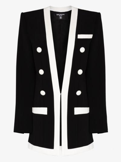 single-breasted button blazer