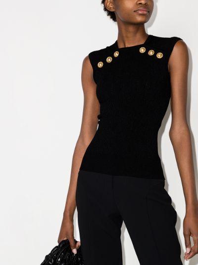 sleeveless ribbed knit top