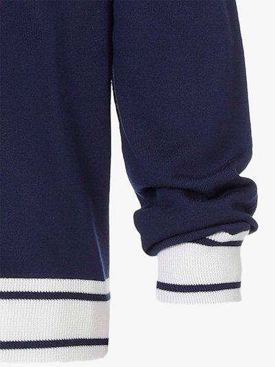 varsity wool cardigan
