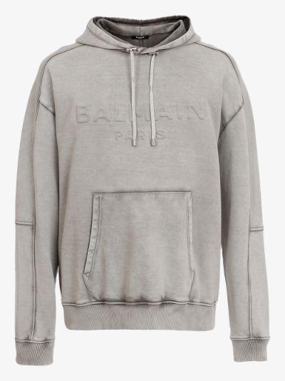 Washed logo hoodie