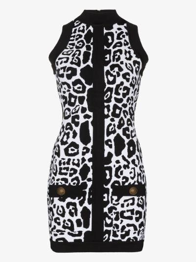 X Browns 50 leopard print bodycon mini dress
