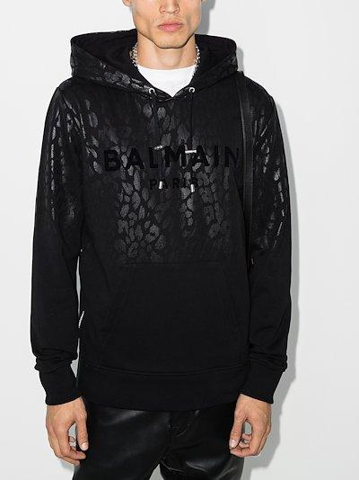 X Browns 50 leopard print logo hoodie