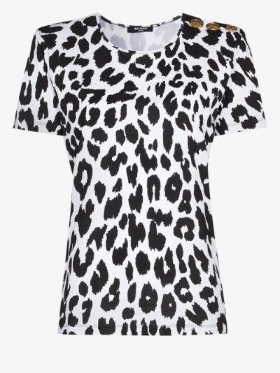 X Browns 50 leopard print T-shirt