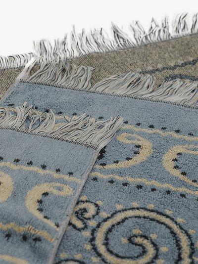 blue bandana print towel