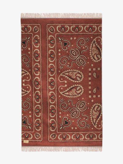 red bandana print towel