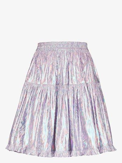 Amy metallic tiered skirt