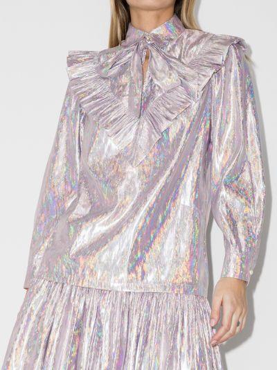 Carol metallic blouse
