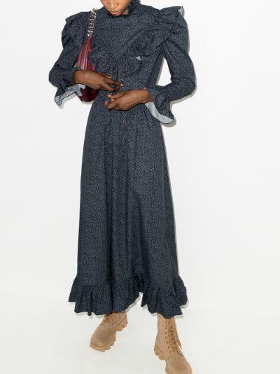 Carol ruffled cotton dress