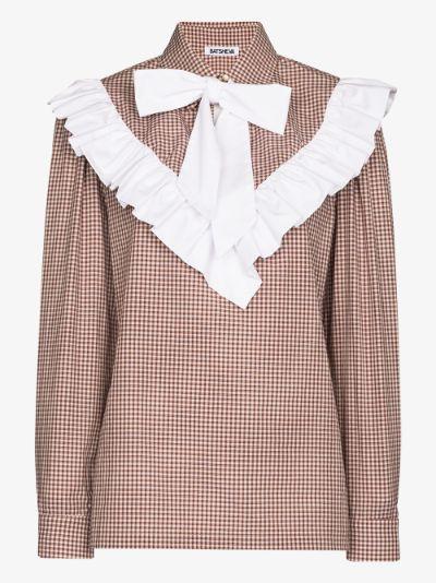 Carol ruffled gingham blouse