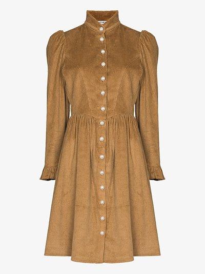 Grace corduroy puff sleeve dress