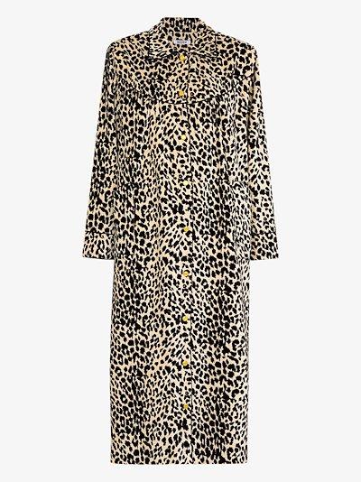 House leopard print velvet coat