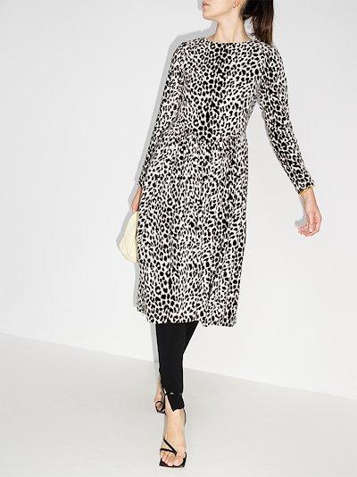 willow leopard print midi dress