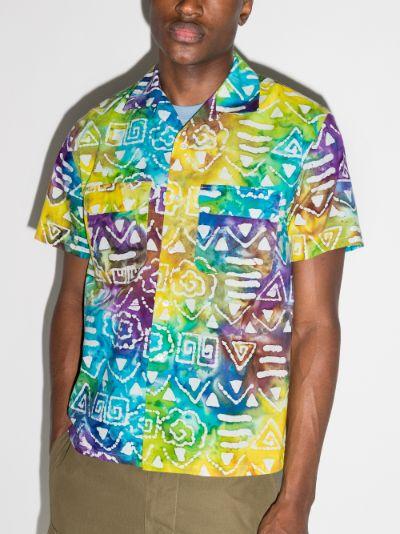 batik print cotton shirt