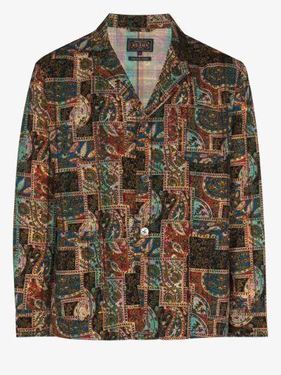 patchwork paisley print blazer
