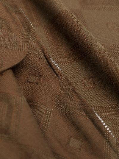 Zip-up jacquard shirt jacket