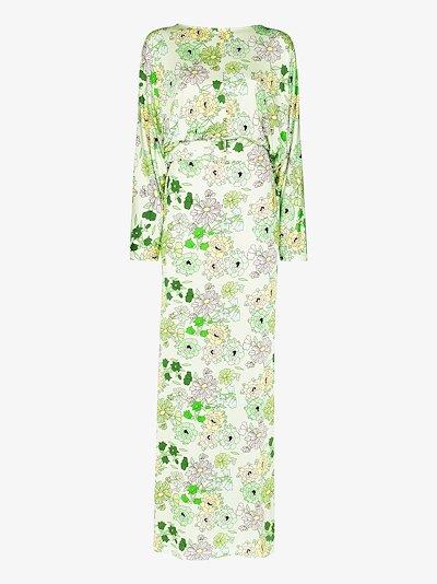 Elisabeth belted floral maxi dress
