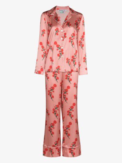 floral silk pyjamas