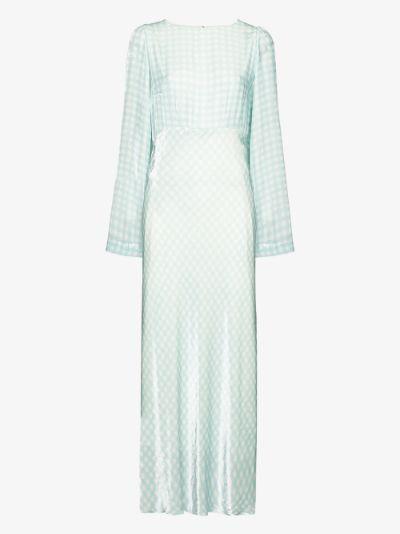 Jane gingham maxi dress