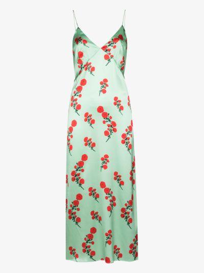 Jeanine floral silk midi dress