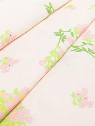 neutral floral print linen tablecloth