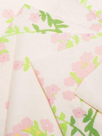 neutral floral print napkin set