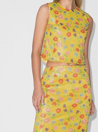 Roxanne floral sequin top