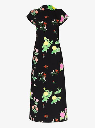 Valentine floral midi dress