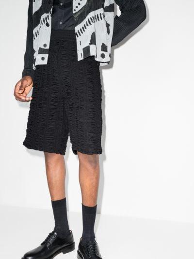 X Browns Focus Shrunken bermuda shorts