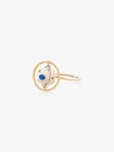 18K yellow gold Galaxy Spinning diamond ring