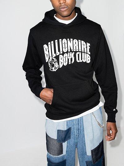 Arch logo print hoodie