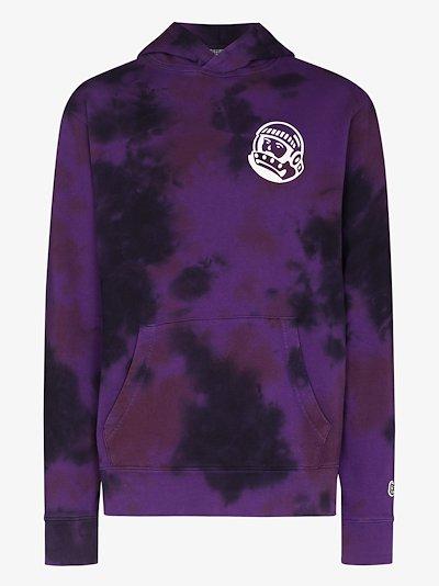 purple tie-dye cotton hoodie